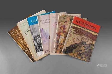 1926 Ensemble de 8 magazines sur le thème de l'Ecole des Beaux-arts de l'Indochine. [...]