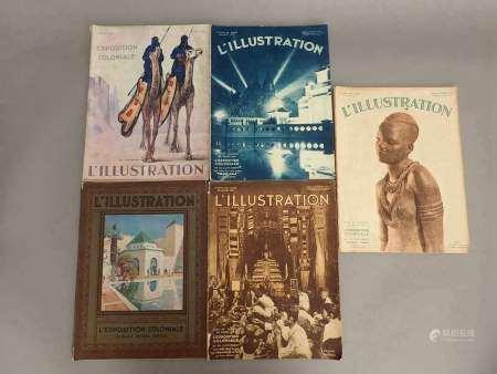 1931 Un ensemble de cinq numéros du journal l'Illustration consacrés à [...]