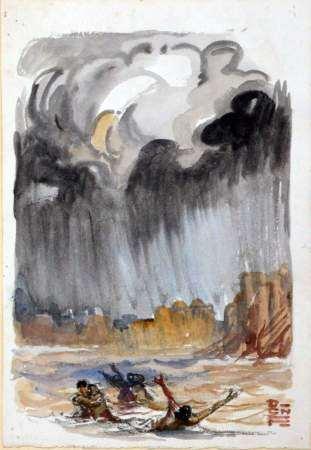 1947 BROMFIELD - FOUQUERAY. La Mousson.  Aquarelles de D. Charles FOUQUERAY. Paris, [...]