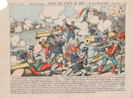 Guerre du Tonkin - Prise des Forts de Hué - 18.19 et 20 août 1883. Imagerie [...]