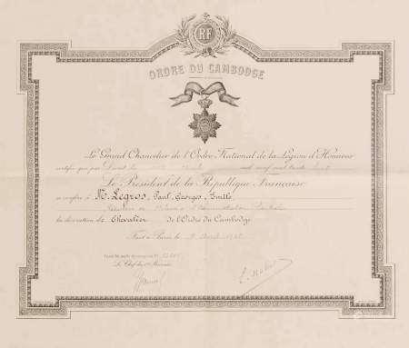 1938. Ensemble de deux brevets:  - Titre de Grand Chancelier de l'ordre National de [...]