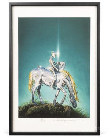 空山基 Untitled (Riding) (2017)