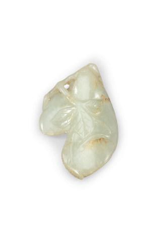 清 青白玉豌豆珮