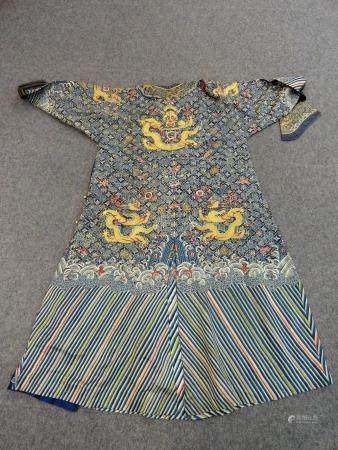 A Chinese Summer Gauze Dragon Robe