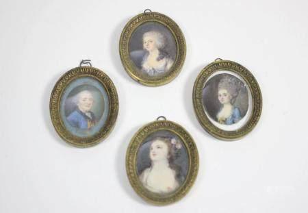 A Group of Miniature Portraits