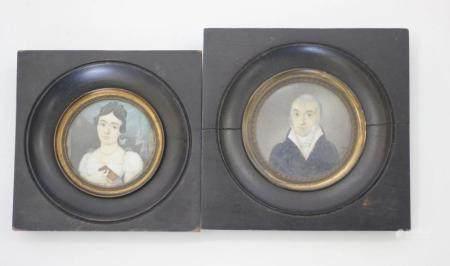 A Pair of Miniature Portraits