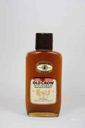 Flasche Traveler Fifth, Old Crow Kentucky Straight Bourbon Whiskey, 1985, 0,757 L. Flasche