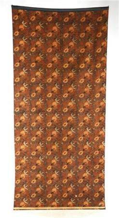 Textile with fish decor, Indonesia ca.1950, ca.230x105 cm