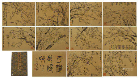 CHINESE PAINTING ALBUM OF PLUM BLOSSOMS BLOSSOMMING