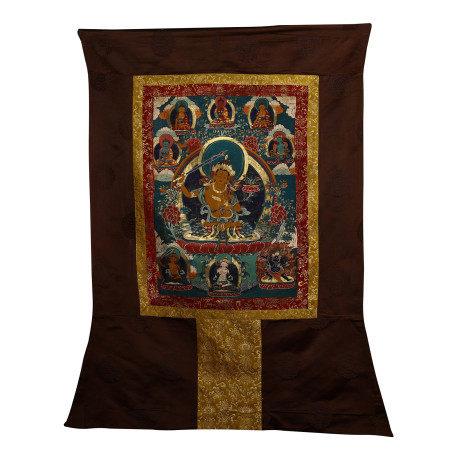 CHINESE THANGKA DEPICTING OF BUDDHA WITH CORONET