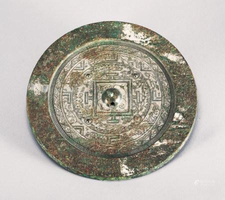 漢 幾何紋神獸鏡