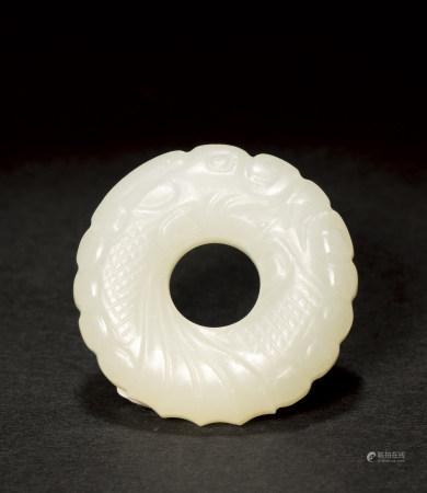 清 白玉龍環