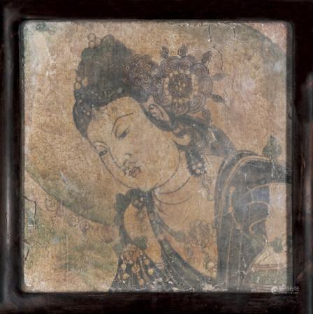 晚唐-五代 壁畫觀音菩薩殘片