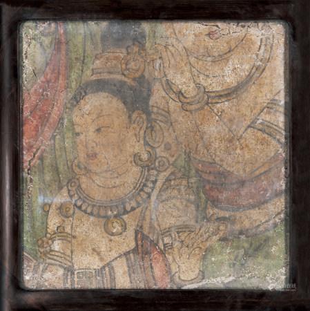晚唐-五代壁畫菩薩殘片