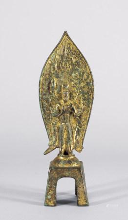 北魏 銅鎏金菩薩像