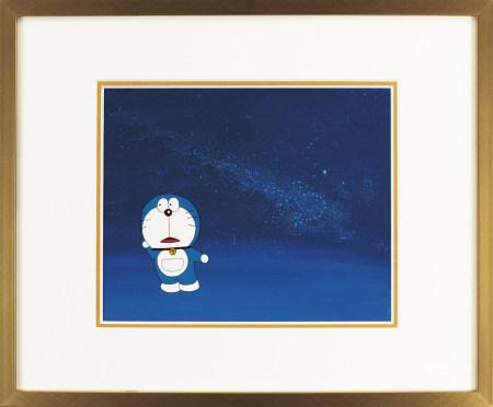 《哆啦A夢 》賽璐珞手繪原稿 #A3 附手繪背景圖