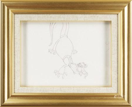 《救難小英雄澳州歷險記》(迪士尼1990年) Joanna the Goanna 手繪原稿 #21