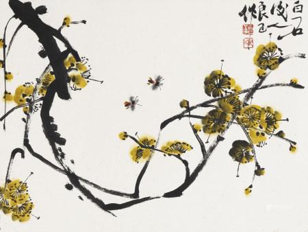 齊良已 1923-1988 花卉蜜蜂