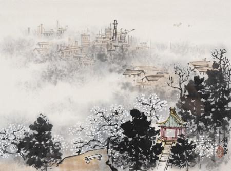 錢松岩 1899-1985 山水
