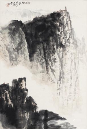 李瓊久 1907-1990 涐山松風