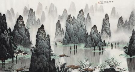 白啟剛 (b.1938) 千峰競秀