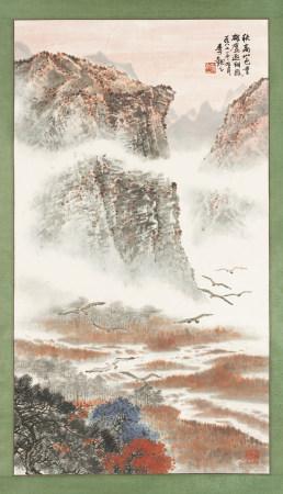 季觀之 1915-1997 秋高山色