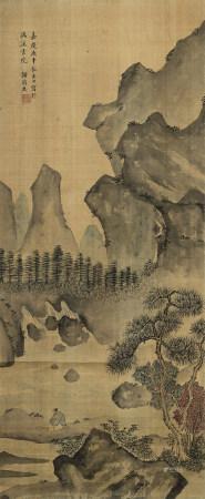 謝蘭生 (1769-1831) 觀瀑圖