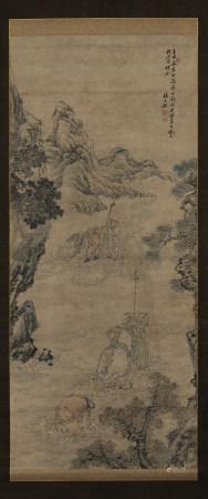 張士保(清) (1805-1878)  山水人物