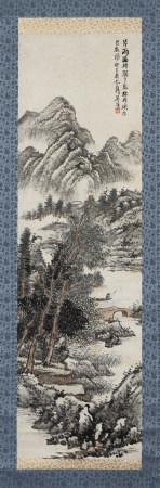 吳滔(清) (1840-1895) 踈林秋風