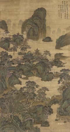 仇英(明) (1494-1552) 亭臺樓閣