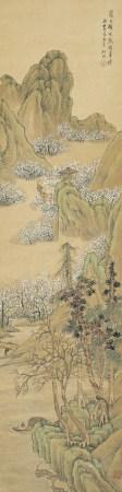 張培敦(清) 1772-1846 嶺上梅開載鶴尋