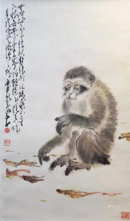 趙少昂 猴子