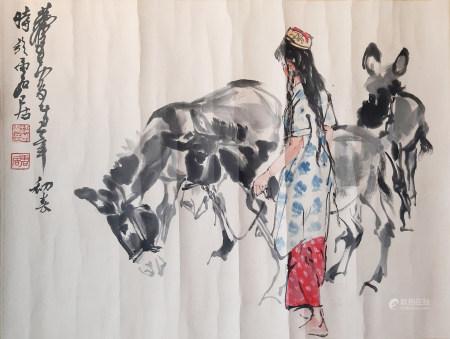 黃胄 牧驢