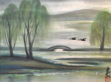 林風眠 雁