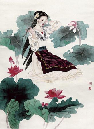 王美芳 趙國經 仕女