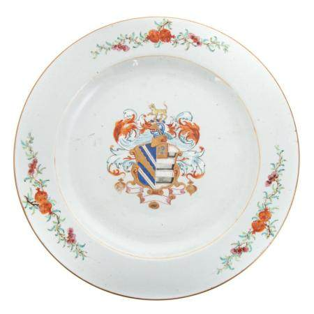 Large Chinese Export Armorial Charger