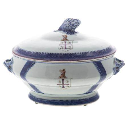 Chinese Export Armorial Porcelain Soup Tureen