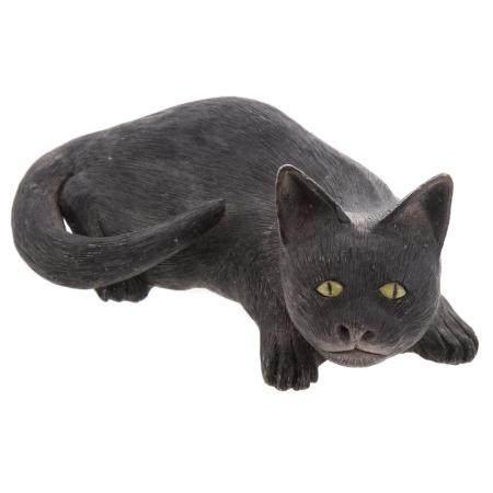 Chinese Famille Noir Porcelain Cat