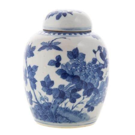 Chinese Export Blue/White Ginger Jar