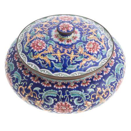 Chinese Canton Enamel Vanity Jar