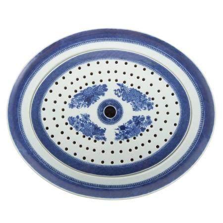 Chinese Export Blue Fitzhugh Platter/Mazzrine