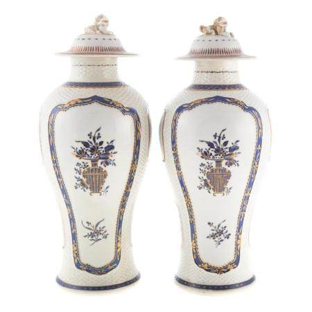Pair Chinese Export American Market Jars