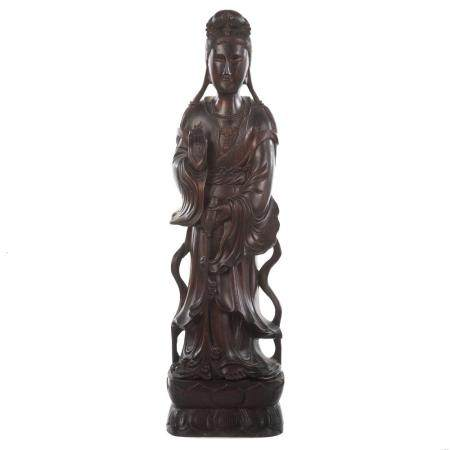 Chinese Carved Wood Quan Yin