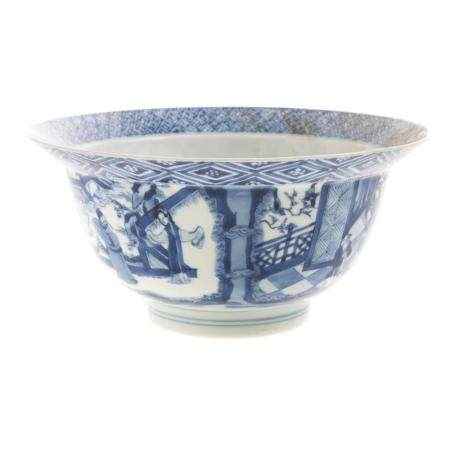 Chinese Export Blue/White Flared Top Bowl