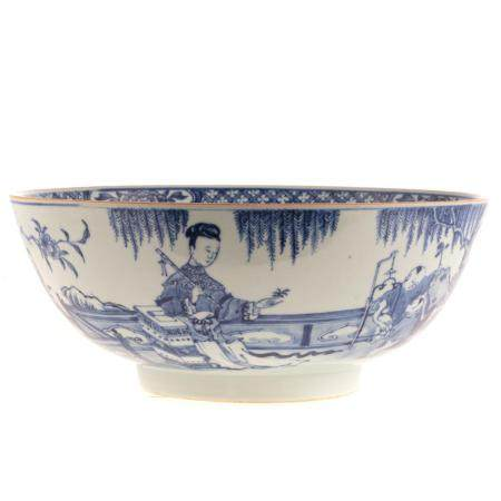 Chinese Export Blue/White Center Bowl