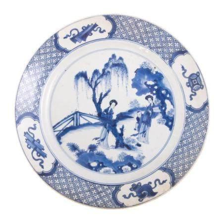 Chinese Export Blue/White Plate