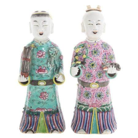 Two Chinese Export Famille Rose Figures