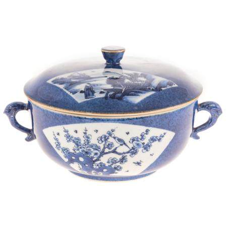Chinese Export Blue/White Covered Bowl