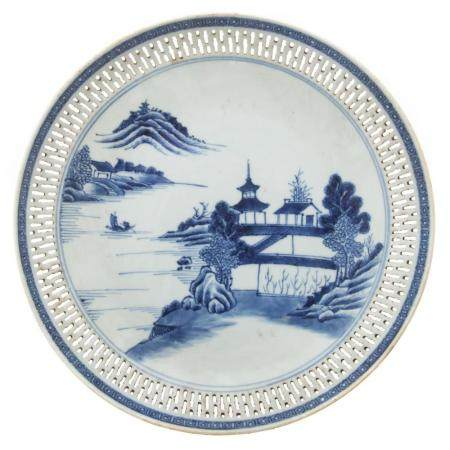 Chinese Export Nanking Reticulated Fruit Bowl