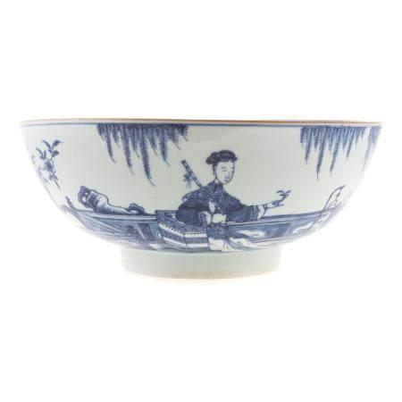 Chinese Export Blue/White Center Bowl
